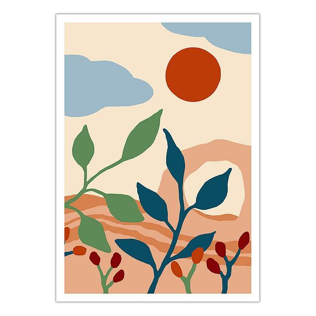 Desert landscape (A4 giclée print)