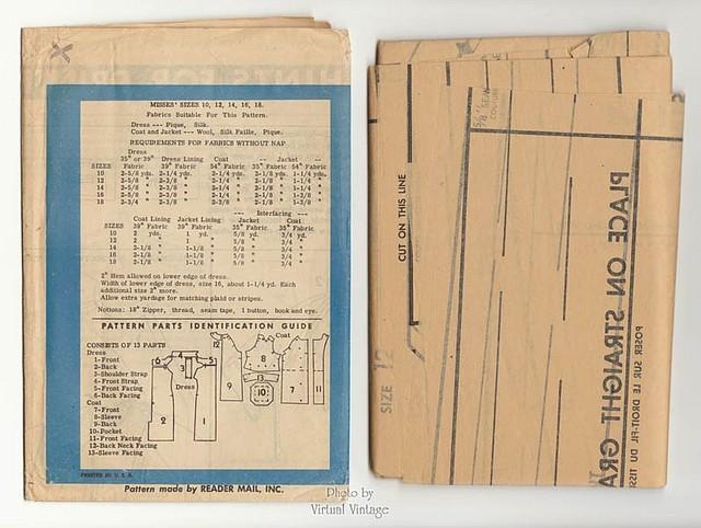 1960s Cocktail Dress Pattern Prominent Designer A544 by Luis Estévez Uncut