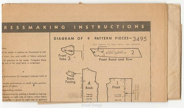 40s Bow Blouse Sewing Pattern, Butterick 3495, Vintage Easy Sewing Pattern