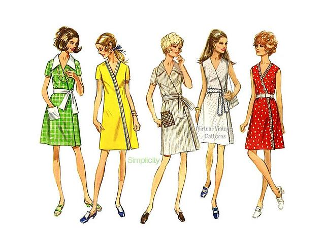 Simplicity Pattern 8242 Vintage 1940s Miss and Plus Two Piece Dress Size 20W-28W
