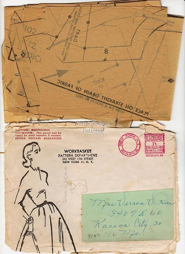 1950s Sundress Pattern, Mail Order 9102, Bolero & Dress Vintage Patterns