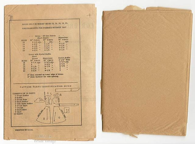 Vintage 1950s Pinafore Dress Pattern, American Weekly 902, Sundress with Pockets, Uncut