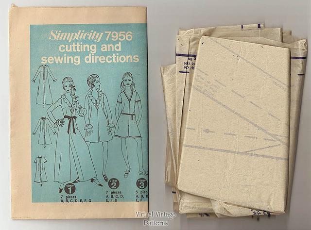 1960s Pant Dress Pattern, Simplicity 7956, Vintage Jumpsuit, Bust 36