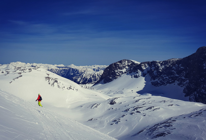 Ski touring on the Dachstein glacier