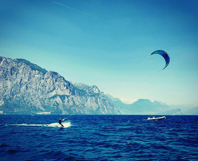 Kitesurfing at Lake Garda