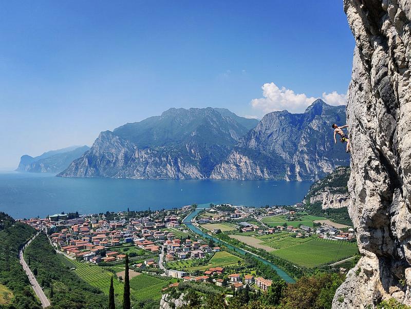 Rock climbing at Lake Garda