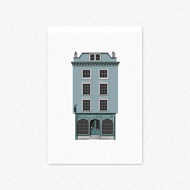 Antiques On High, Oxford [Giclee Print]