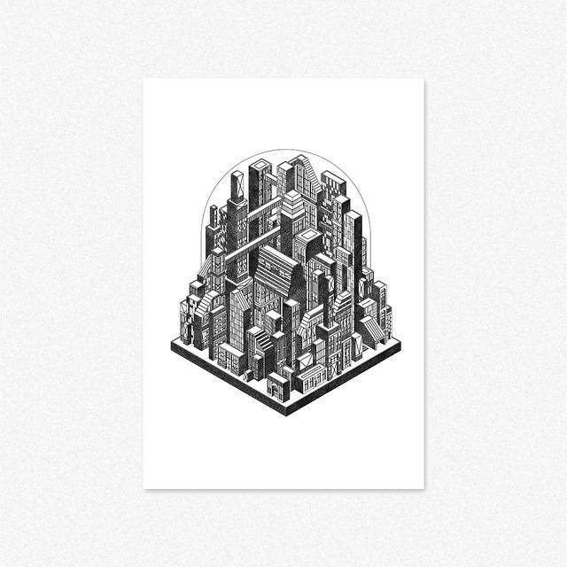 Domed City [Giclee Print]