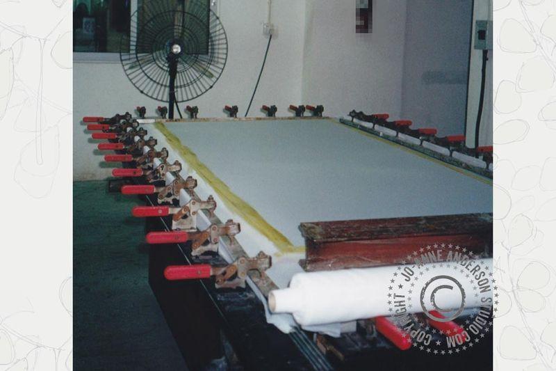 Screen Set Up1: drying screen