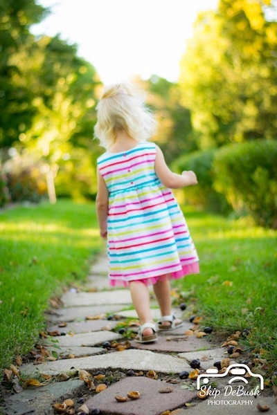 Child Walking On Life's Journey
