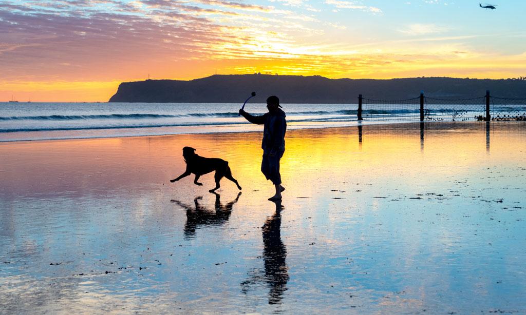 Rainbow Sunset at Dog Beach