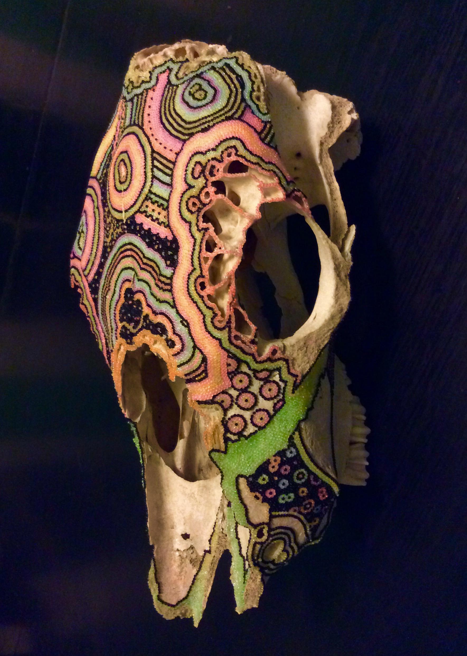 Beaded Skulls