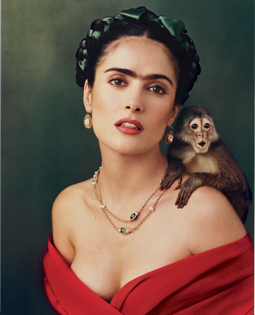 Salma Hayek as Frida Kahlo by Annie Leibovitz