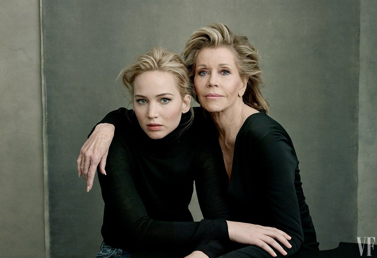 Jane Fonda and Jennifer Lawrence by Annie Leibovitz