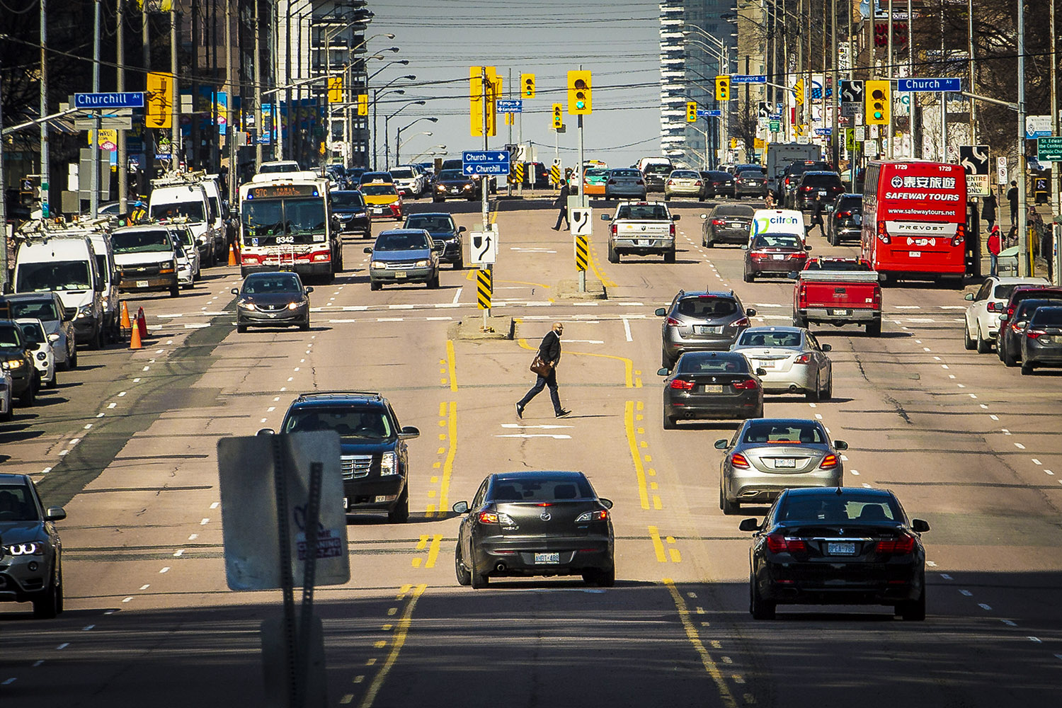 A plan to transform Yonge between Sheppard and Finch, and make it more bike and pedestrian friendly with bike lanes, has been nixed by the public works committee, Wednesday, February 28, 2018.