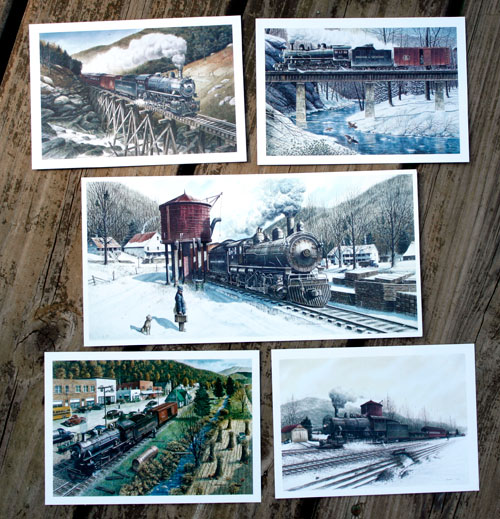 Train Notecards (set of 5)