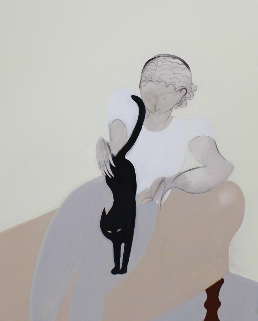 Cat, 2016, oil on canvas, 152 x 122 cm