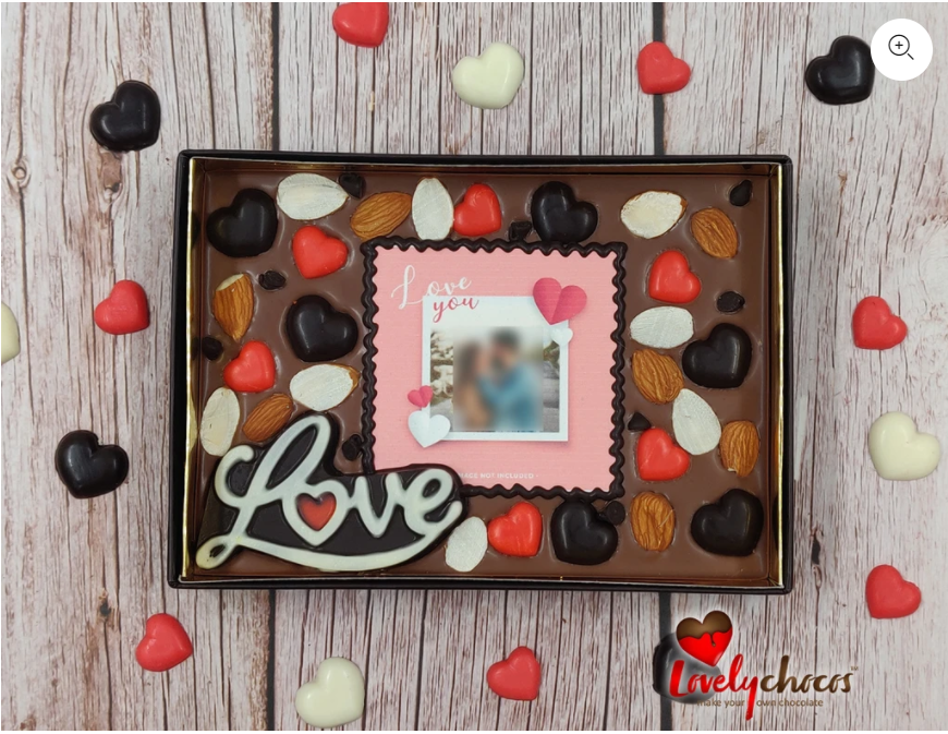 Personalized chocolates from Lovely Chocos