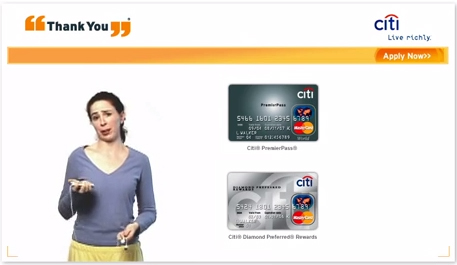 Citi Thank You Jogger Redeem Machine