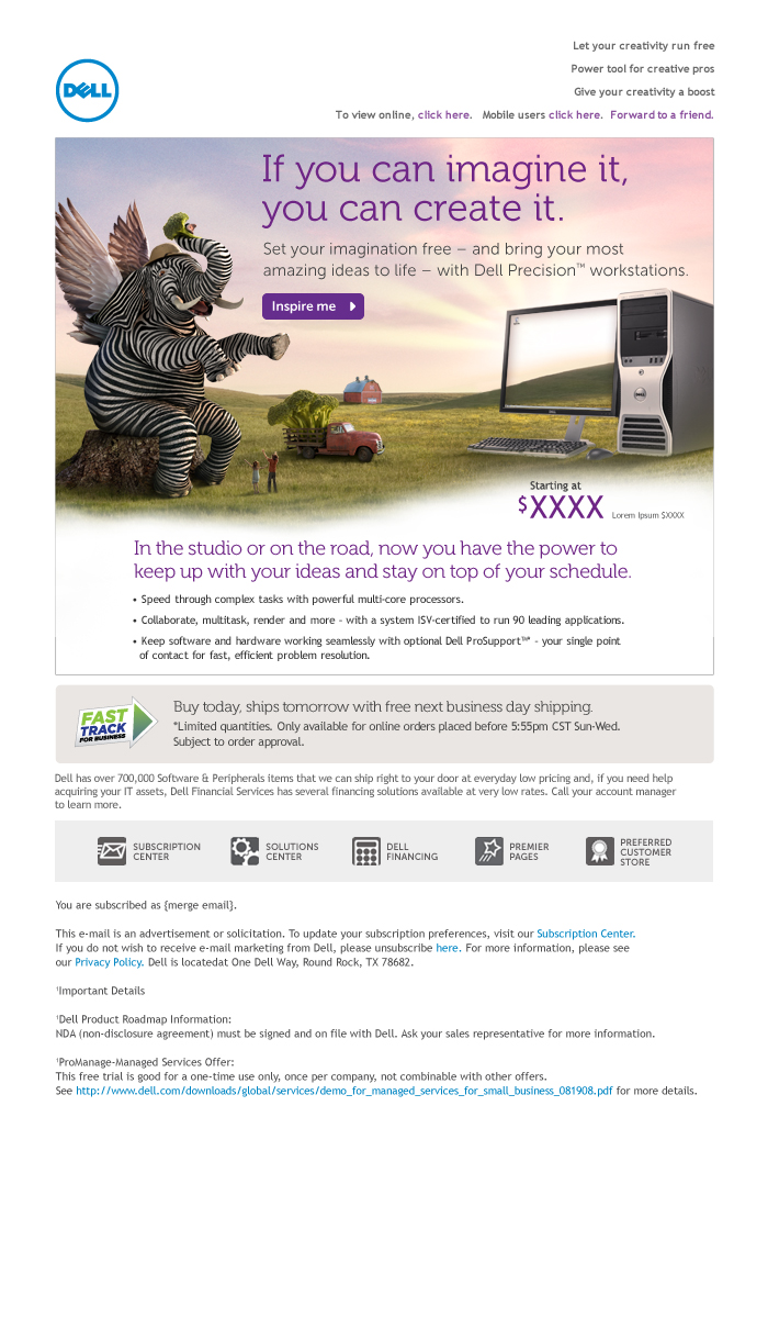 Dell Workstaion Zebrelephant – Email