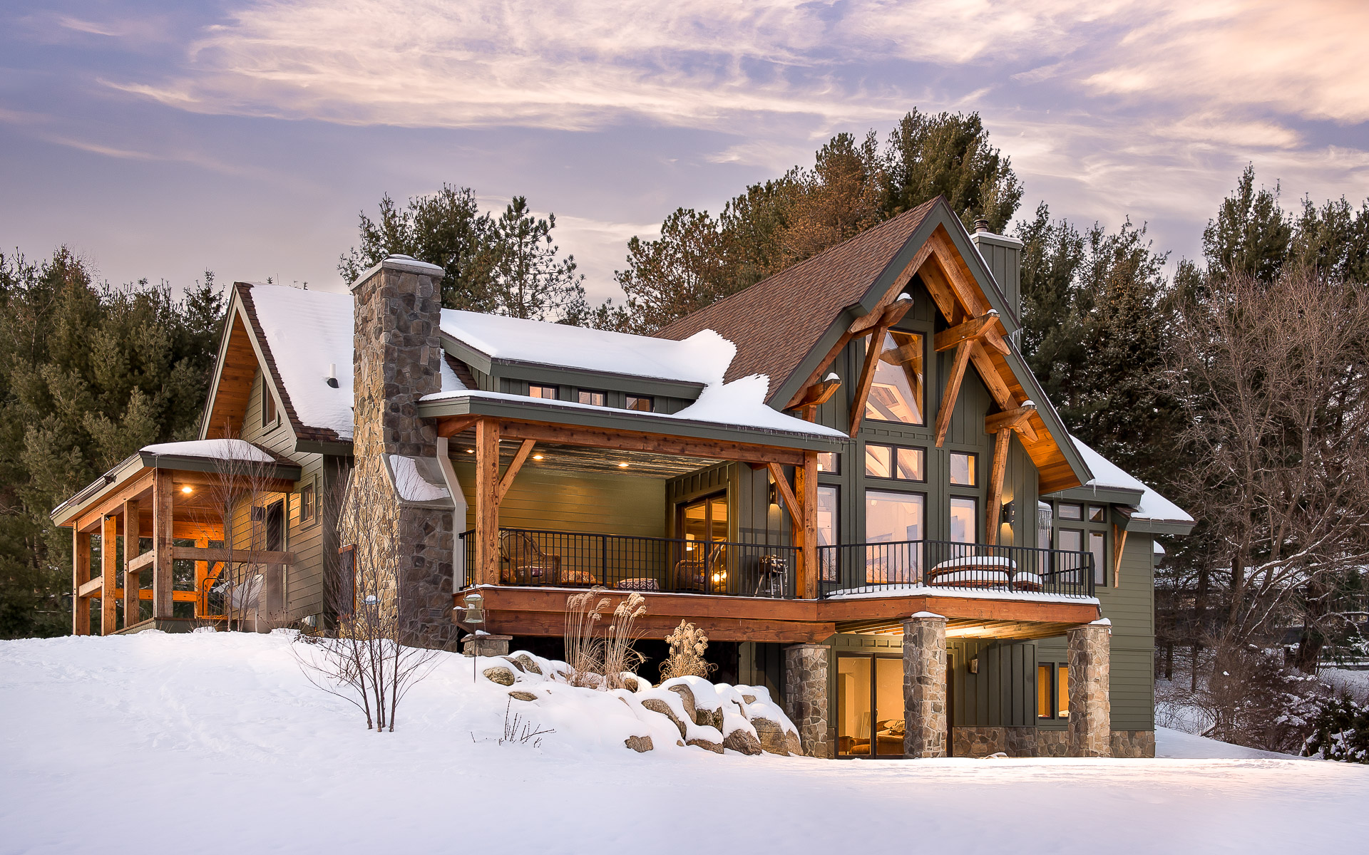 Timber frame Builder Sweeping North America