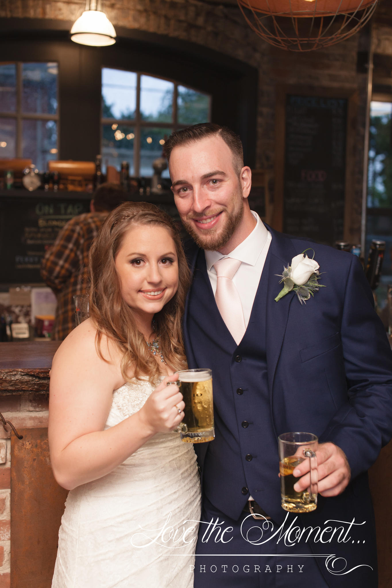 Joesph and Ashley Sept 2016- Old Flame Brewery filled with love