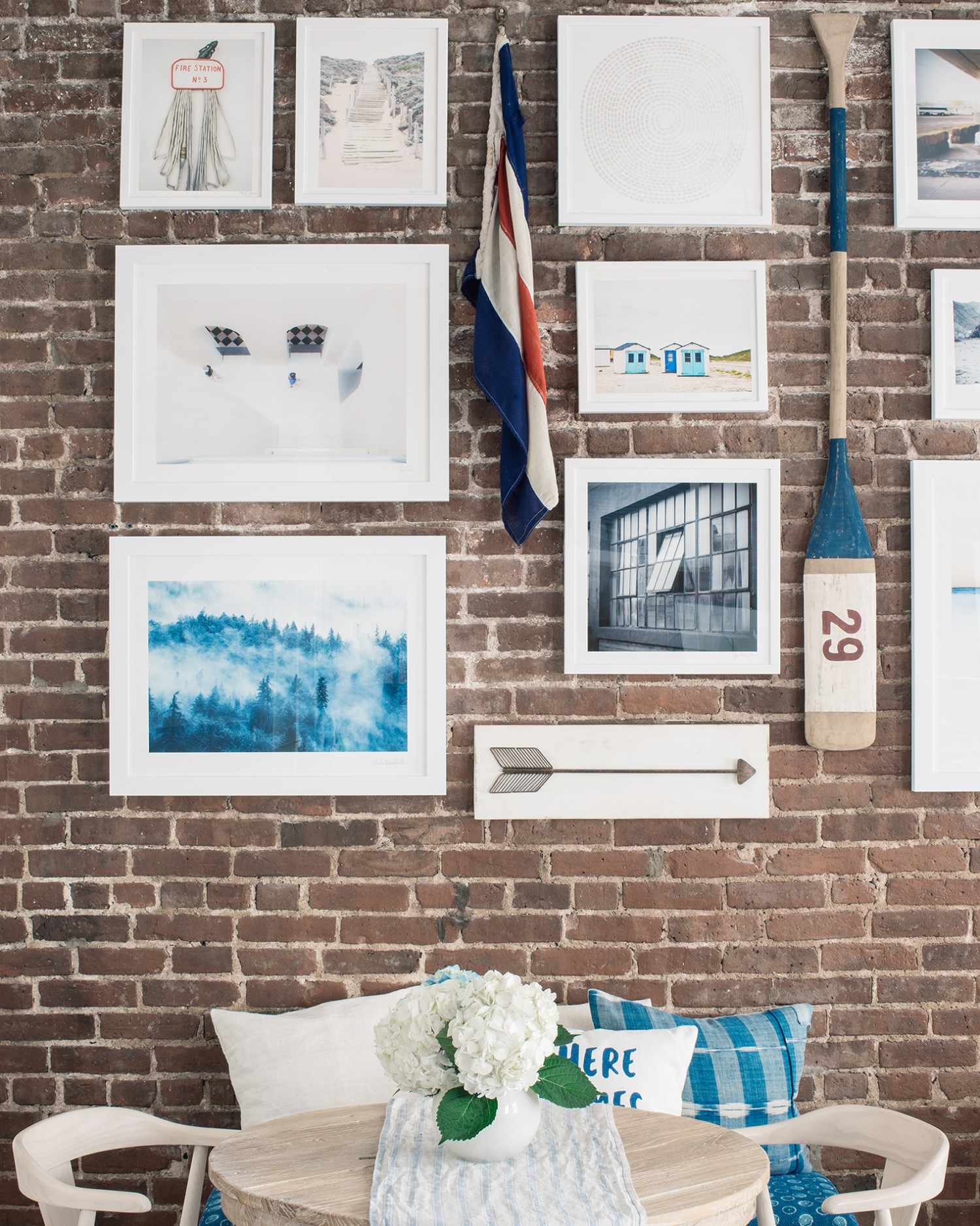 Misty Forest Artwork Was Featured In A Blog Post By Bright Bazaar On How To Hang Gallery Wall Exposed Brick Walls