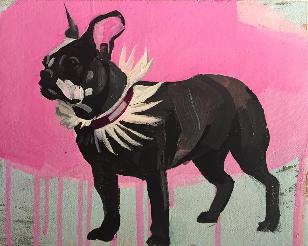 "Imperious Rex (Study #2), 2019, acrylic on canvas over panel, 8"" x 10"""