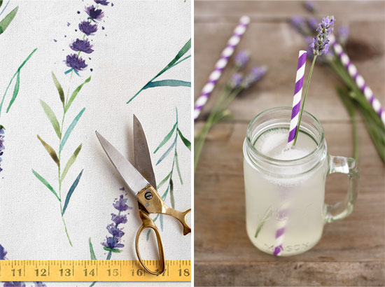 design to dish: lavender lemonade