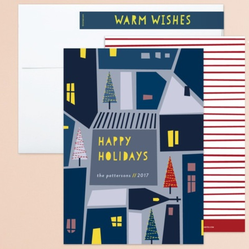 'christmas in the village' holiday card