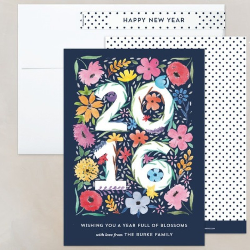 'blooming year' new year card