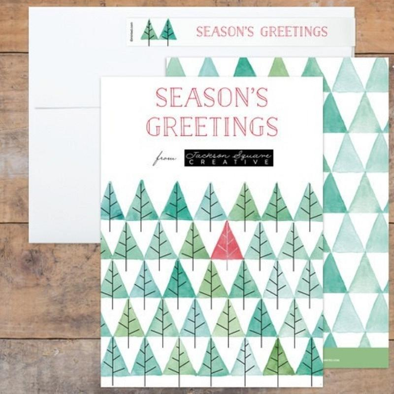 'pine forest' holiday card