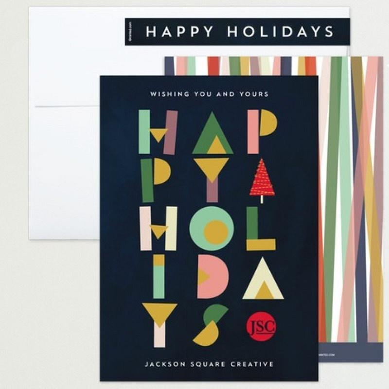 'papercut type' holiday card