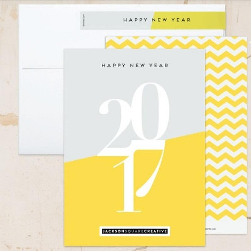 'bright new year' new year card
