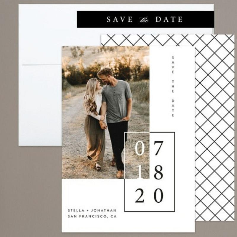 'folio' save the date card