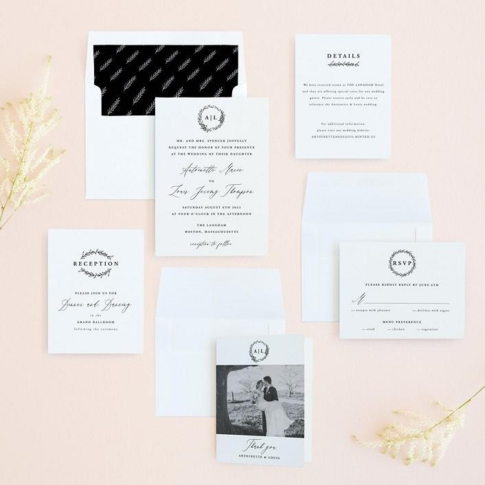 """antoinette"" wedding invitation suite"