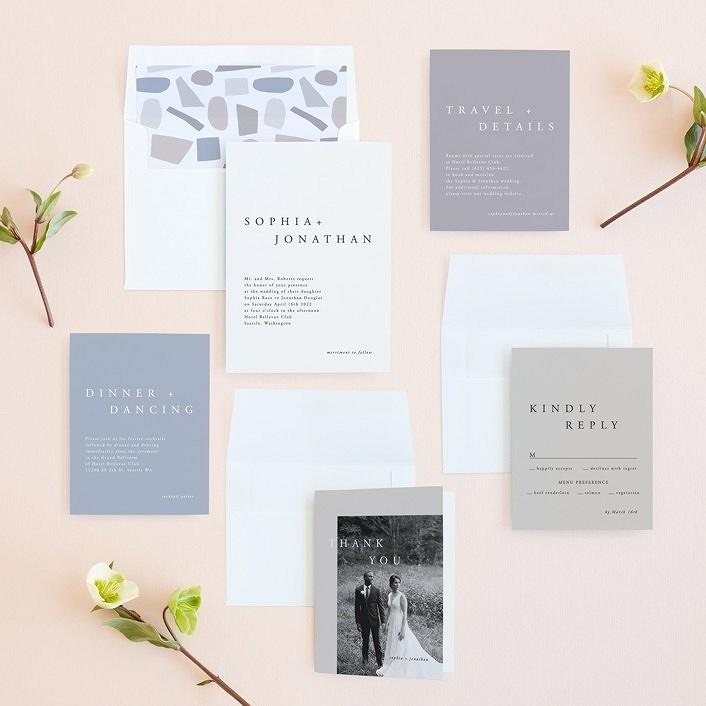 """the minimalist"" wedding invitation suite"