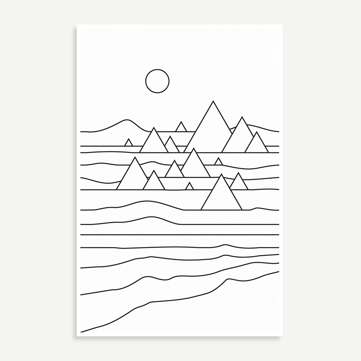 Mountains geometry