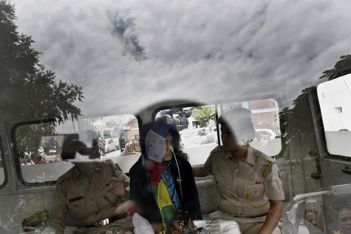 Irom Sharmila arrives for her fortnightly hearing at Cheirap court for her hunger strike against the draconian Armed Forces Special Powers Act (AFSPA) in Imphal, India, August 9, 2016.