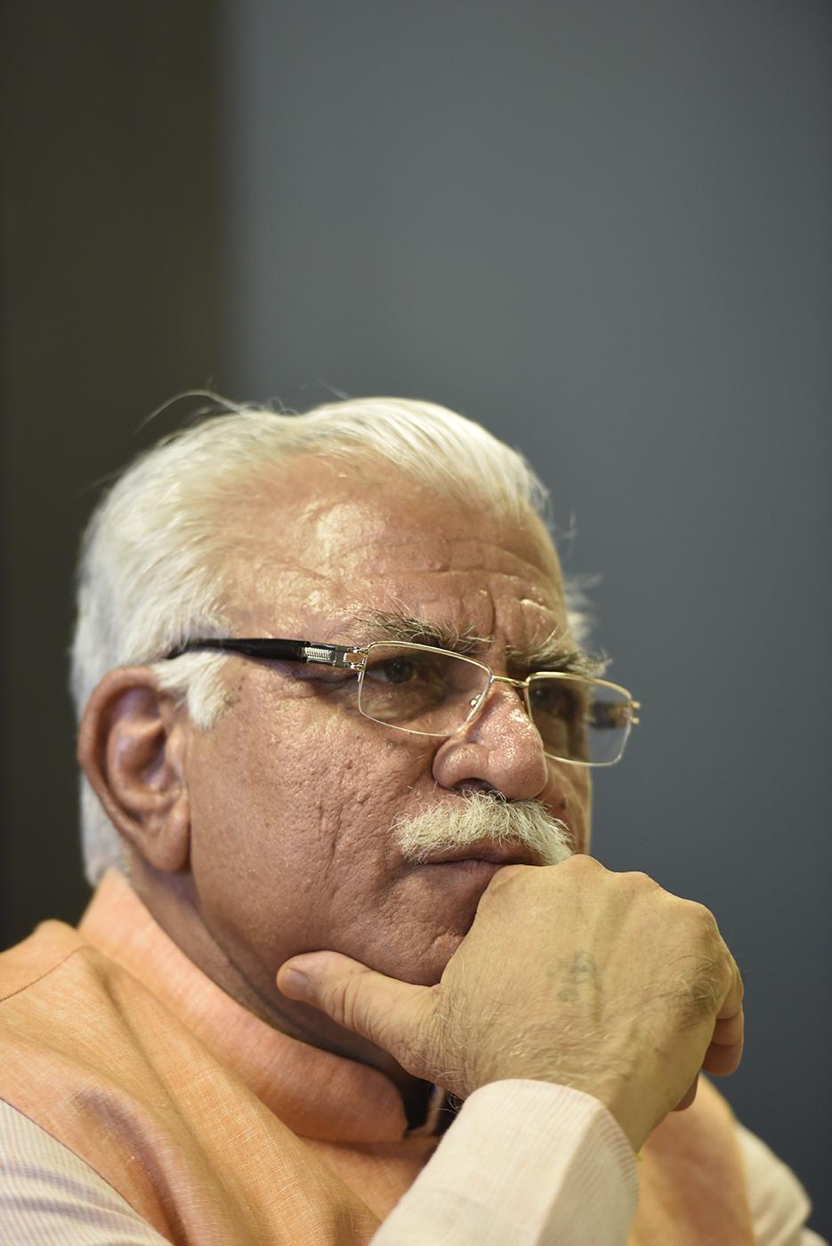 Manohar Lal Khattar, politician, portrait