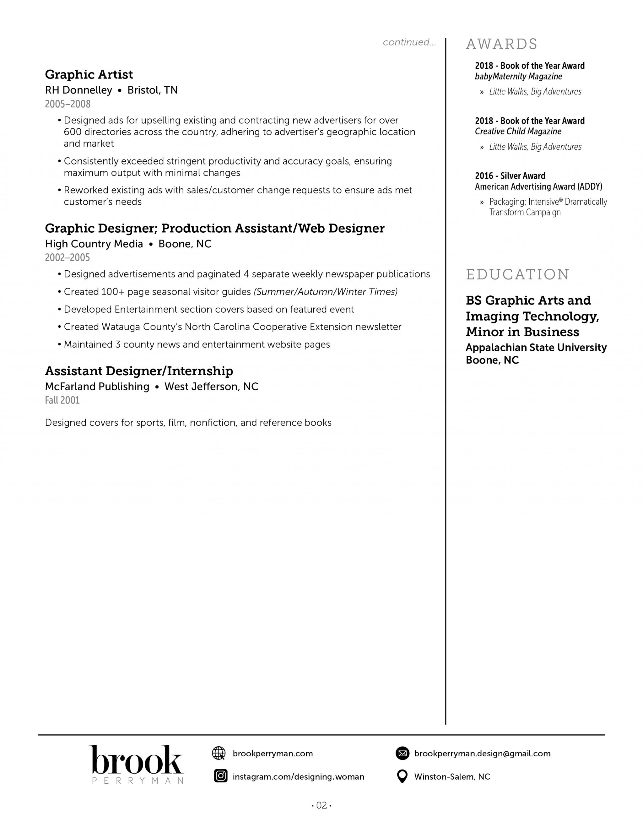 Brook Perryman downloadable resume PDF