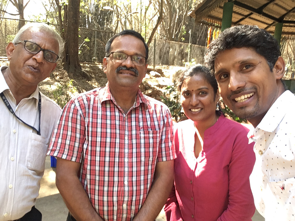 A selfie moment with Arun and Prof Subramanya