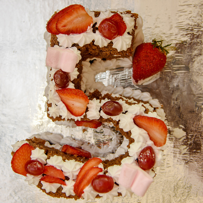 Yummy millet strawberry cake, thanks to Rashmi
