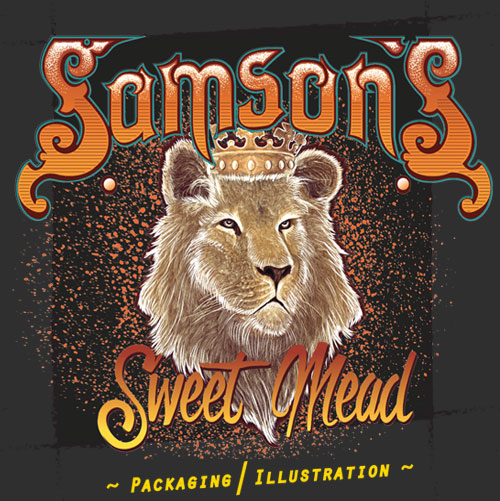 ~Samson's Mead label & Illustration ~