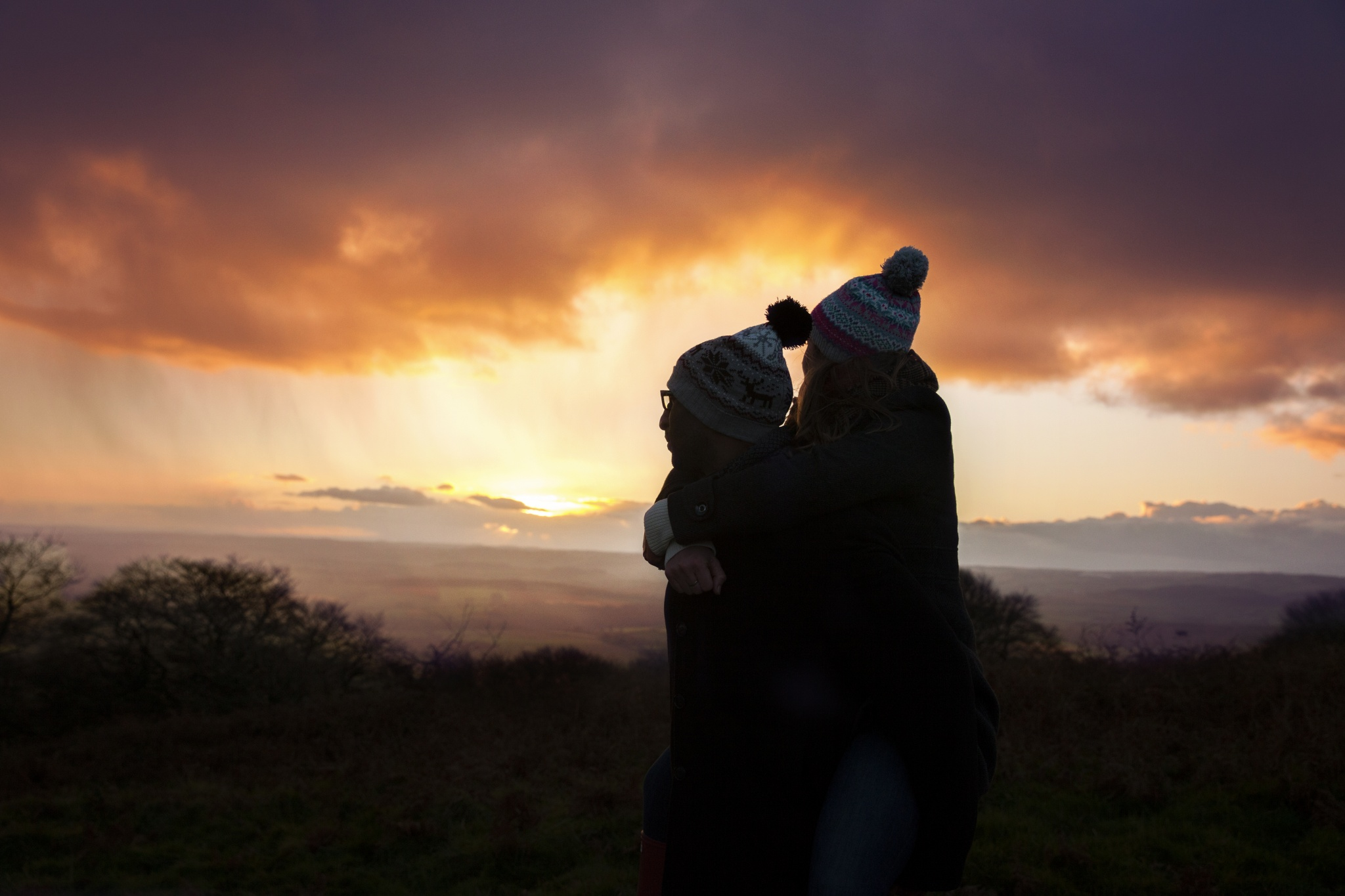 Engagement session in Quantock Hill