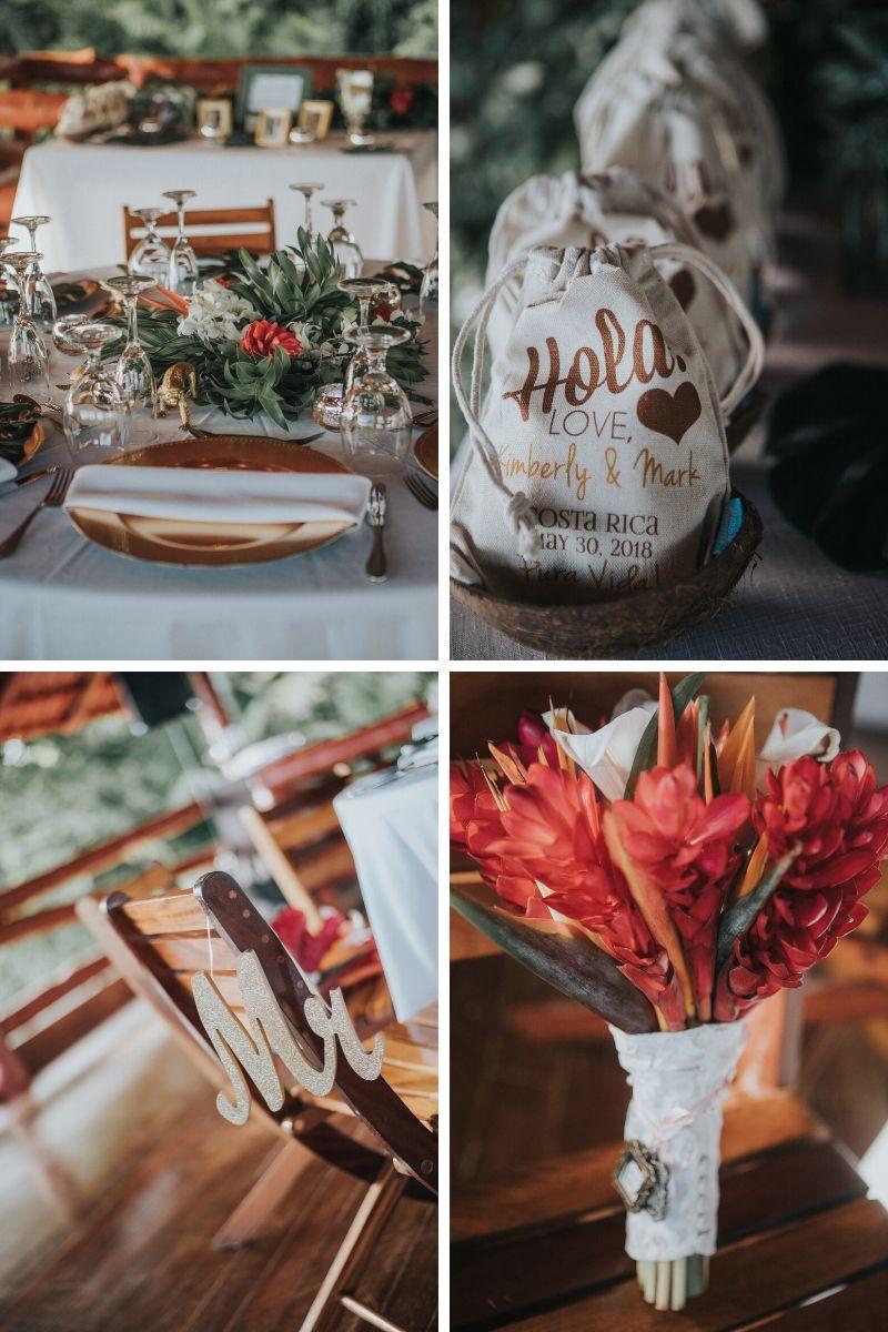 tropical wedding costa rica
