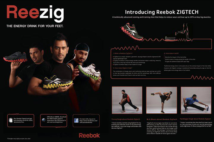 Reebok With Ms.Dhoni