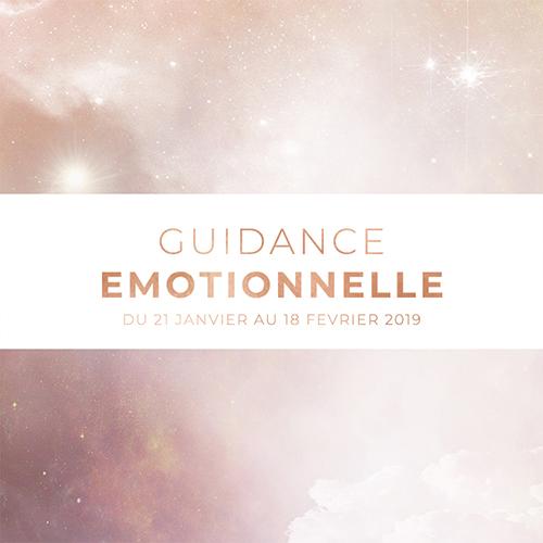 Guidance émotionnelle - Du 21 janvier au 18 février 2019