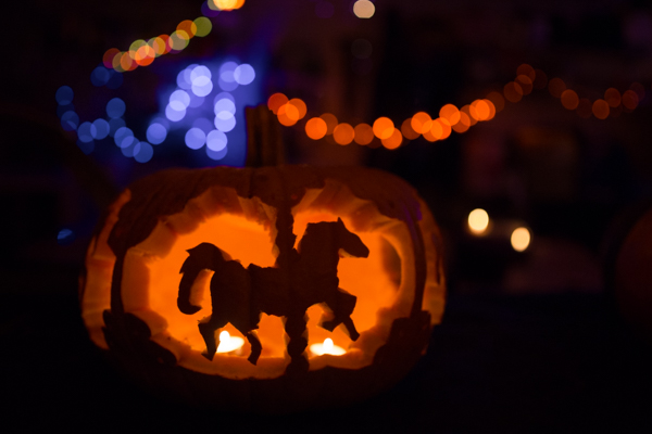 Carousel Pumpkin - I was happy they actually looked like horses, ha!