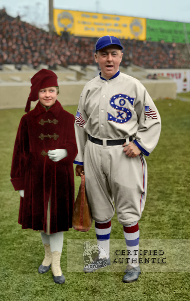 Clarence 'Pants' Roland & Daughter Beulah - Manager, Chicago White Sox @ 1917 World Series